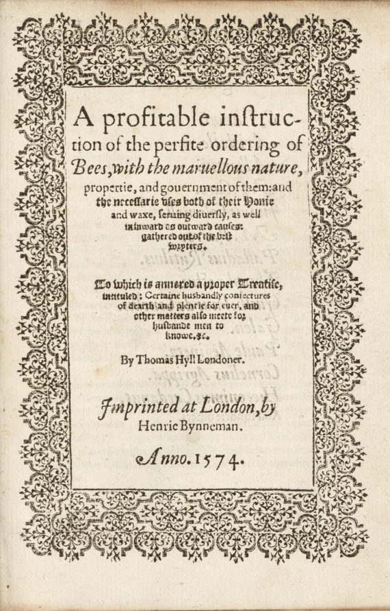 title_page_a_profitable_instruction_of_the_perfite_ordering_of_bees