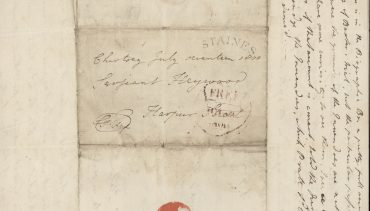 address of letter  from Fox to Heywood 17.7.1800