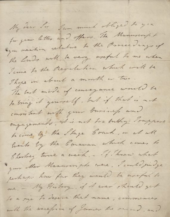 Letter from Fox to Heywood 17.07.1800