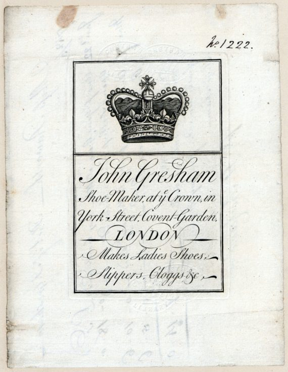 John Gresham Shoemaker an engraved crown ablve text enclosed in a border