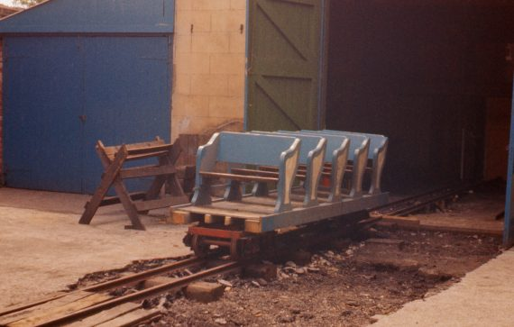 Photo of Scenic Railway cars undergoing conversion for use on the Steam Railway