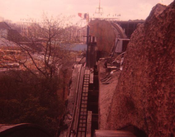 Photo of the broken track of the Scenic Railway that was never repaired and led to closure.