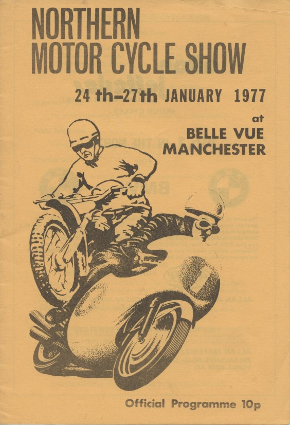 Poster for the Belle Vue Northern Motorcycle Show, 1977